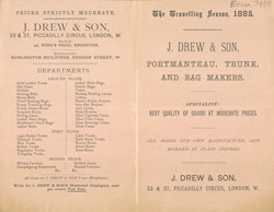 Advert For J. Drew & Son, Portmanteau, Trunk & Bag Maker